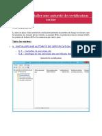 5. Installer Une Autorité de Certificat Racine