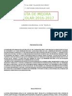 Ruta de Mejora Escolar- 2016-2017-Nueva