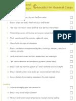 Nwko Chs Checklist for General Cargo