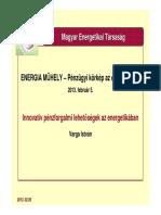 Varga István - Innovatív Pénzforgalmi Lehetőségek Az Energetikában