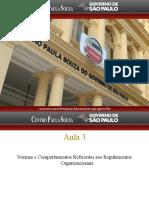 Aula 3 - Normas e Comportamentos Referentes Aos Regulamentos Organizacionais