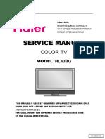 Haier HL40BG Lcd Tv Service Manual
