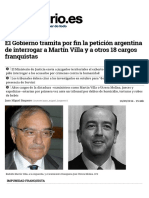 El Gobierno Tramita Por Fin La Petición Argentina de Interrogar a Martín Villa y a Otros 18 Cargos Franquistas