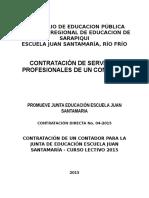 Cartel Contratación CONTADOR 2015