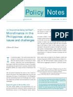 Llanto Microfinance Status in the Philippines