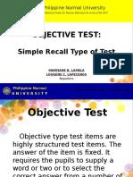 1-Simple Recall Test