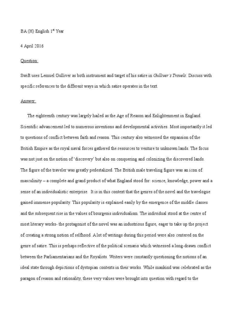 Gullivers travels essay prompts accounting assistant functional resume