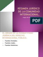 RÉGIMEN JURÍDICO DE LA COMUNIDAD INTERNACIONAL