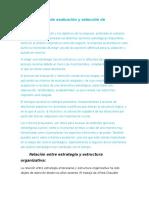 El Proceso de Evaluación y Selección de Estrategias