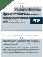 Cuadratura de Gauss Diapositivas