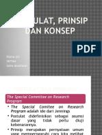 TA.5-Postulat, Prinsip Dan Konsep