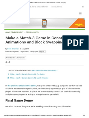 Make a Match-3 Game in Construct 2_ Animations and Block