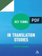 Key Terms in Translation Studies