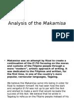 Analysis of Makamisa by Jose Rizal