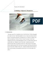 The Physics of Ice Skating