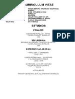 Curriculum Vitae Norma Transito