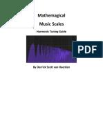Derrick Scott Van Heerden - Mathemagical Music Scales, 2013