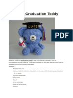 graduation teddy Bear crochet