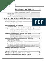 Manual Fantom X6