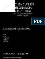 Secuencias en Resonancia Magnetica