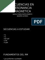 Secuencias en Resonancia Magnetica