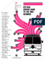 1984 RTD Bus Service Guide to the 1984 Olympics