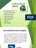 Declaración de Rio de Janeiro