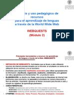 Análisis y Uso Pedagógico Webquest