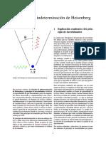Relación de Indeterminación de Heisenberg
