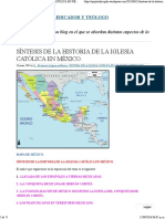 Síntesis de La Historia de La IglSÍNTESIS DE LA HISTORIA DE LA IGLESIA CATÓLICA EN MÉXICO