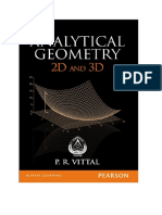Analytical Geometry 2D and 3D - P R Vittal