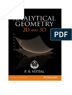 Analytical Geometry 2D and 3D - P R Vittal | Ellipse | Line