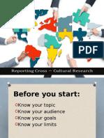 Reporting Cross Cultural Research
