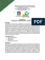 Informe No 1 Materiales y Seguridad en El Laboratorio