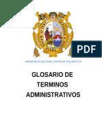 Glosario de Terminos Administrativos