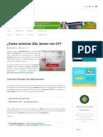 ¿Como Conectar SQL Server Con C#