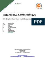 NHD-C12864LZ-FSW-FBW-3V3