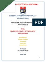 MEJORA DEL PROCESO DE FABRICACIÓN DE ALMOHADAS