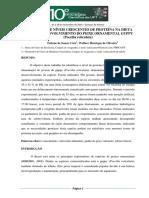 Efeito de Niveis Crescente de Proteina Na Dieta Sobre o Desemvolvimento Do Peixe Ornamental Guppy