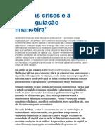 Paulani , Leda - Marx e as Crises Da Desregulação Funanceira