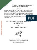 Boulder's second supplemental PUC application