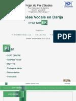 Synthese Vocale Darija