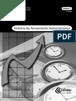 História Do Pensamento Administrativo - Volume 1