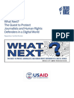 What's Next - The Quest to Protect Journalists and Human Rights Defenders in a Digital World