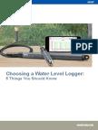 Choosing a Water Level Logger
