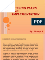 Nursing Plann and Implementation