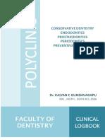 Bachelor of Dental Surgery Clinical Logbook
