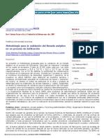 Metodología Para La Validación Del Llenado Aséptico en Un Proceso de Liofilización