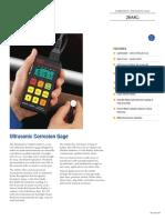 Olympus 26MG Ultrasonic Corrosion Gage brochure