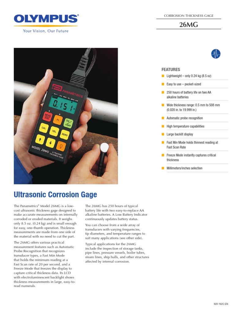 olympus 26mg ultrasonic corrosion gage brochure backlight rh scribd com Instruction Manual Book Instruction Manual Book
